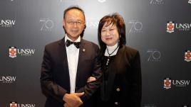 Dr Ronald Lu and wife Stella Lu