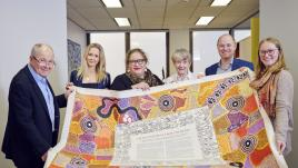 Professor Megan Davis and members of the Balnaves family